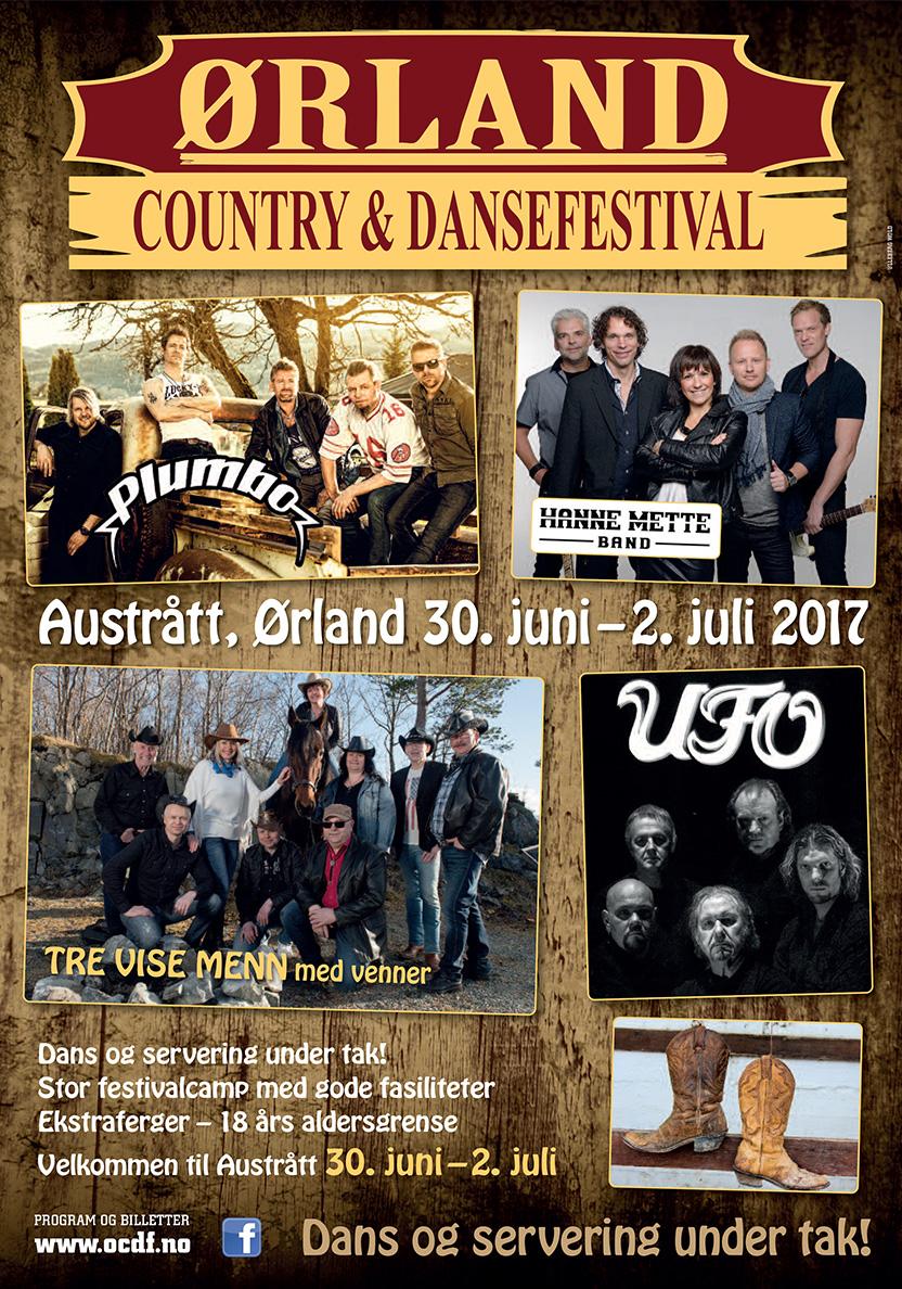 Ørland Country & Dansefestival 2017 Festivalplakat