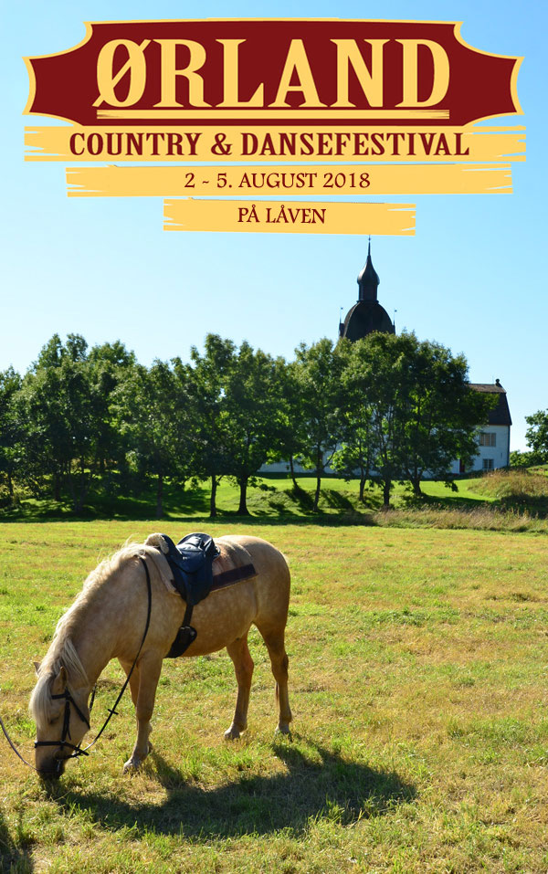 Ørland Country & Dansefestival 2. - 5 august 2018