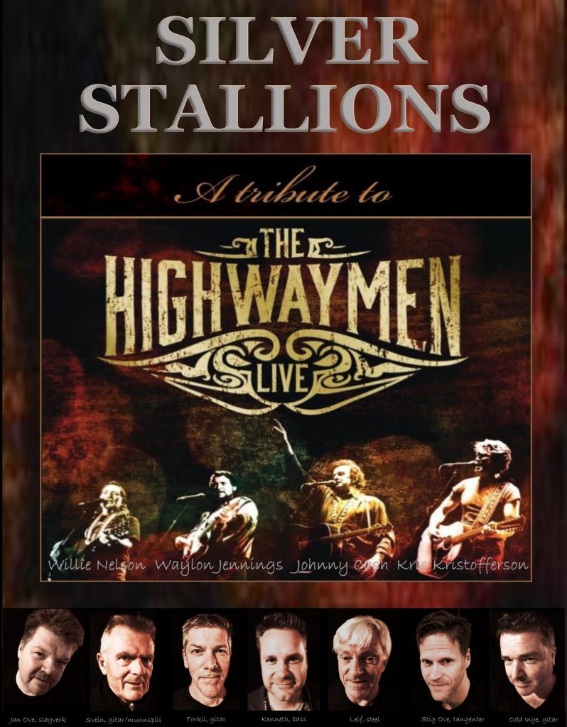 SILVER STALLIONS A tribute to Theg Highwaymen LIVE på Ørland Country & DAnsefestival 2018