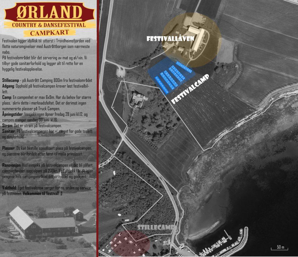 Ørland Country & Dansefestival campkart 2019